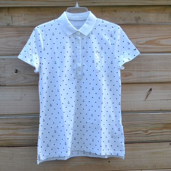 0606f5d7 Tommy Hilfiger Tops | Classic Fit Anchor Polka Dot Polo | Poshmark